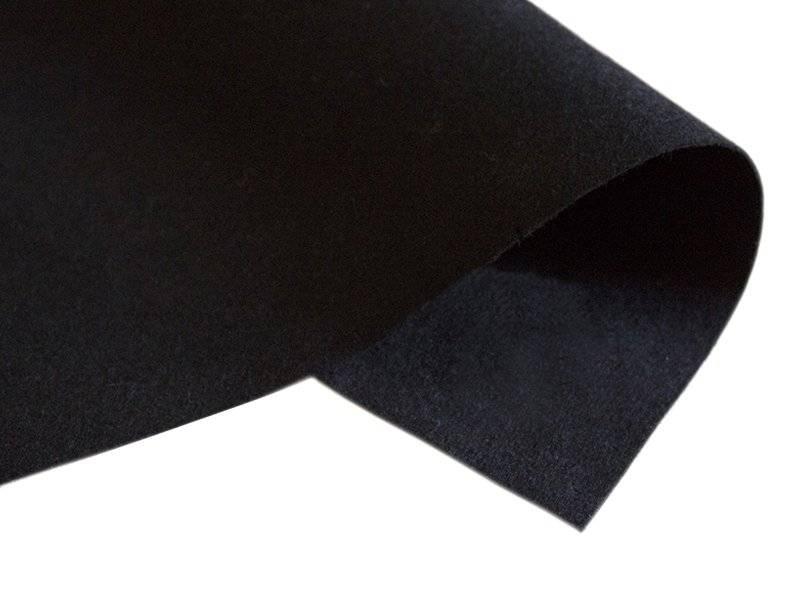 Фетр 42см/50см (толщина 1мм) цв.черный