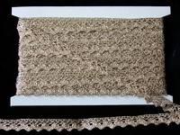 Кружево вязаное(люрекс)цв.бронза 15мм