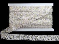 Кружево вязаное(люрекс)цв.серебро 23мм