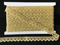 Кружево вязаное(люрекс)цв.золото 17мм