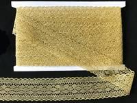 Кружево вязаное(люрекс)цв.золото 45мм
