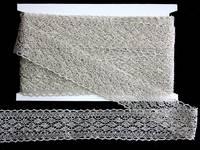 Кружево вязаное(люрекс)цв.серебро 45мм