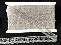 Кружево вязаное(люрекс)цв.серебро 25мм