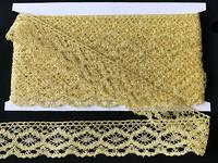 Кружево вязаное(люрекс)цв.золото 40мм