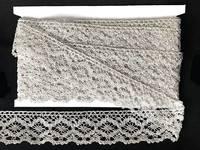 Кружево вязаное(люрекс)цв.серебро 40мм