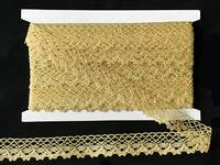 Кружево вязаное(люрекс)цв.золото 23мм