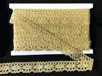 Кружево вязаное(люрекс)цв.золото 25мм