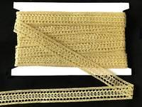 Кружево вязаное(люрекс)цв.золото 20мм