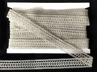 Кружево вязаное(люрекс)цв.серебро 20мм