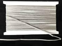 Кружево вязаное(люрекс)цв.серебро 5мм