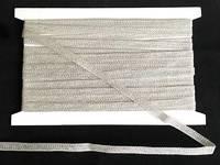 Кружево вязаное(люрекс)цв.серебро 7мм