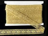 Кружево вязаное(люрекс)цв.золото 26мм