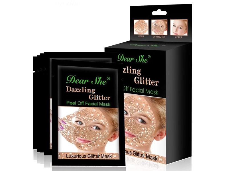 """Маска для лица """"Dazzling Glitter"""" Gold"""