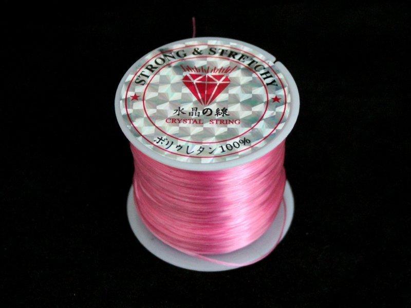 Леска-стрейтч (цвет розовый)