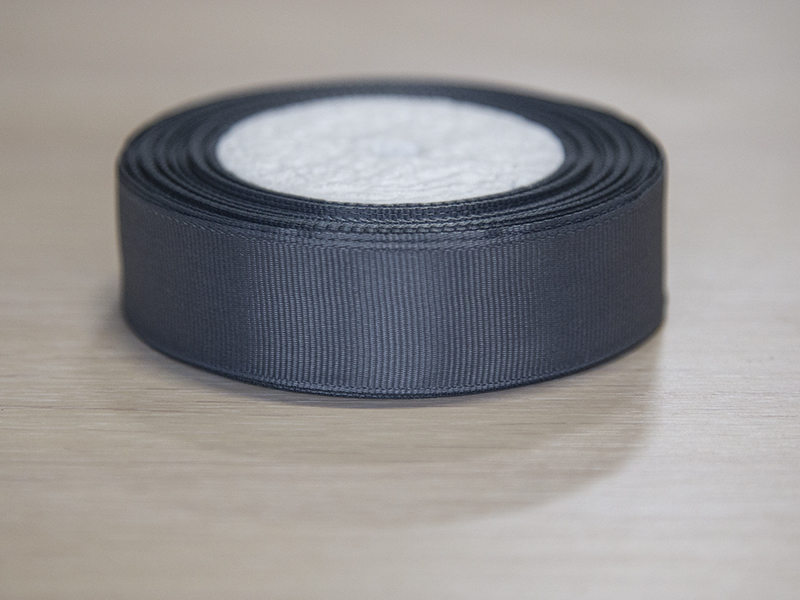 Репсовая лента 25 мм черная силиконовые бусины оптом