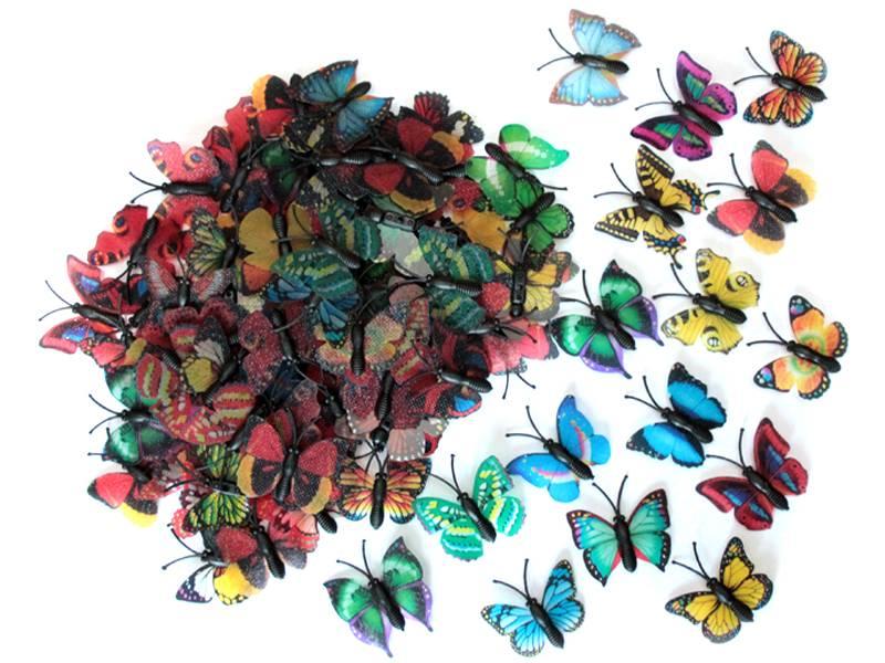 Бабочки декоративные 4см