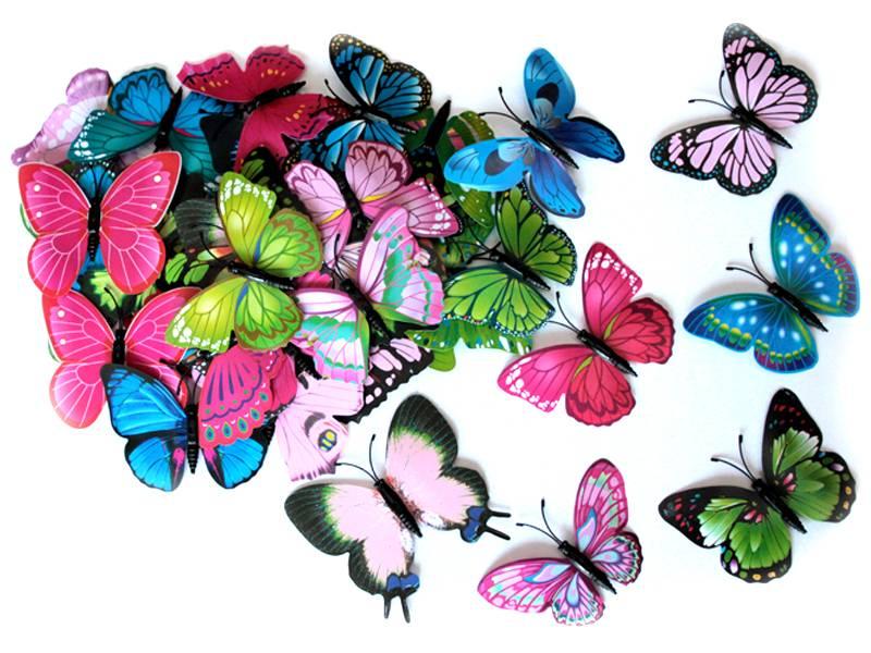 Бабочки декоративные 8см