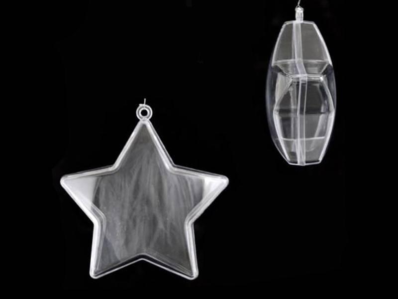 Звезды пластиковые прозрачные для декора 10см