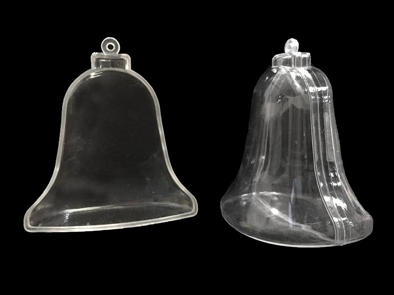 Колокола пластиковые прозрачные для декора 8,5см