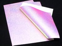 Экокожа (хамелеон-розовый) 20см х 30см