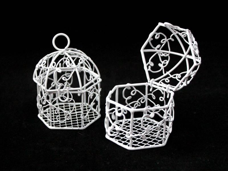 Клетка декоративная (металл) 8,5см х 5,5см