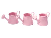 Лейка декоративная (металл)розовая 3,5см х 4,5см х 8см