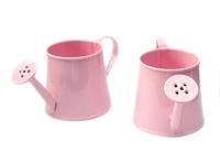 Лейка декоративная (металл) розовая 4,2см х 5см х 11,5см