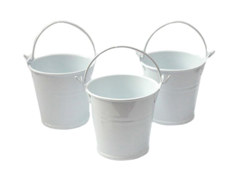 Ведро декоративное (металл)белое 4см х 4,7см
