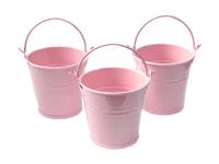 Ведро декоративное (металл)розовое 4см х 4,7см