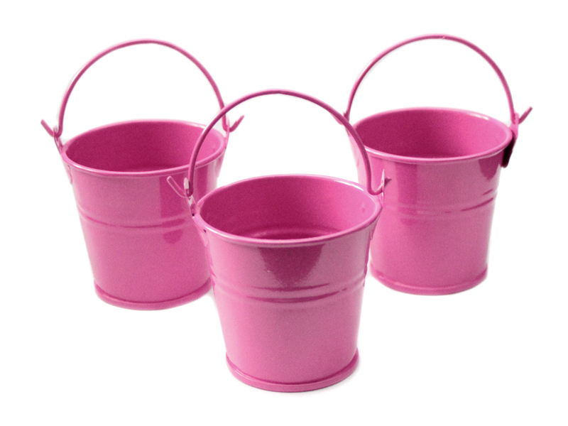 Ведро декоративное (металл) т.розовое 4см х 4,7см