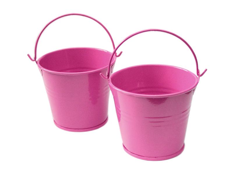 Ведро декоративное (металл) т.розовое 5,5см х 5,7см