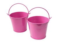 Ведро декоративное (металл)т.розовое 6,5см х 6,7см