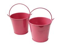 Ведро декоративное (металл)красное  6,5см х 6,7см