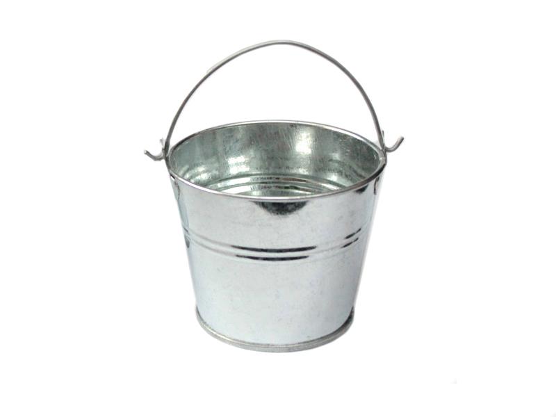 Ведро декоративное (металл) 7см х 7,7см