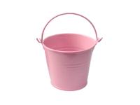 Ведро декоративное (металл)розовое 7см х 7,7см
