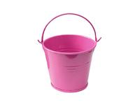 Ведро декоративное (металл) т.розовое 7см х 7,7см