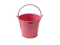 Ведро декоративное (металл)красное 7см х 7,7см