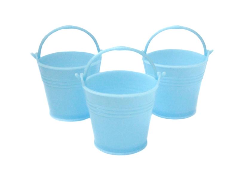 Ведро декоративное (пластик) цв.голубой 5см х 5,5см