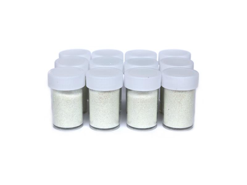 Глиттер/кварц (цв.перламутровый) белый
