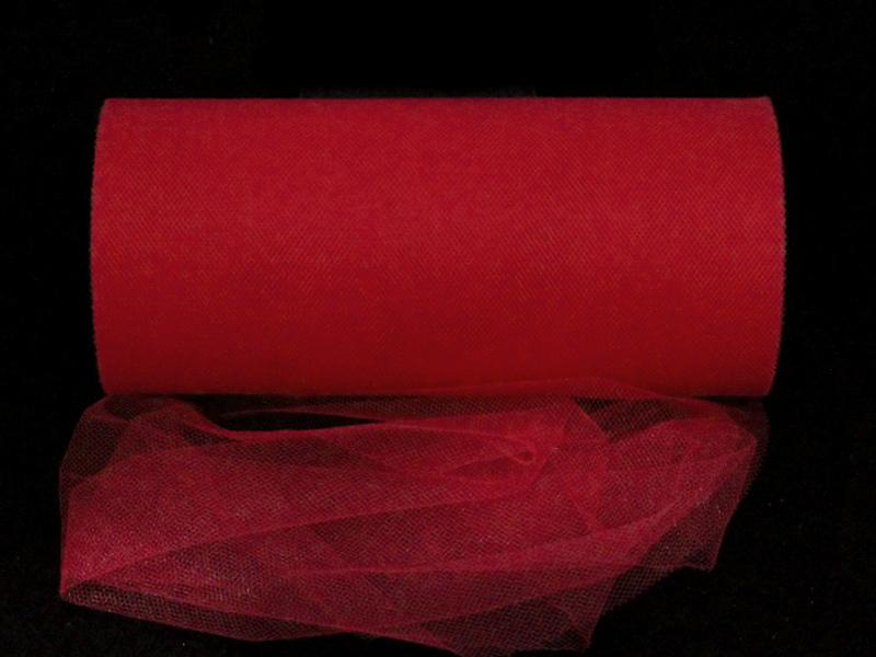 Фатин 15см x 25ярдов (цв.красный)