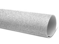 Фоамиран глиттерный 2мм (на клеевой основе) серебро