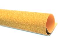 Фоамиран глиттерный 2мм (на клеевой основе) золото