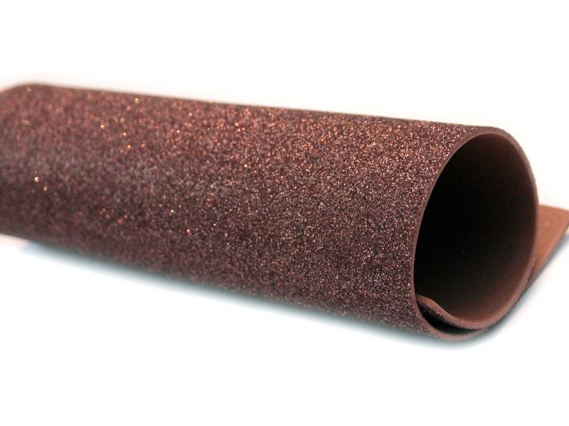 Фоамиран(глиттерный) 20/30см толщина 2мм(коричневый)