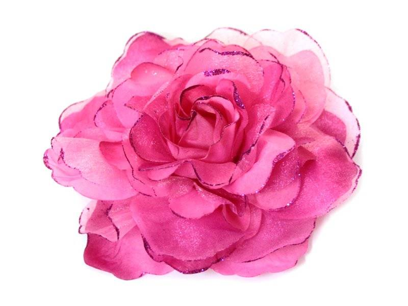Цветок - резинка (брошь)17см