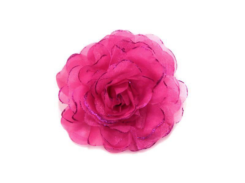 Цветок - резинка (брошь)10см