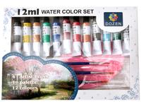 Краски акварельные 12 цветов по 12 мл.