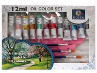 Краски масляные 12 цветов по 12 мл.