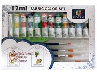 Краски для ткани 12 цветов по 12 мл.