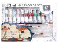Краски для стекла 12 цветов по 12 мл.