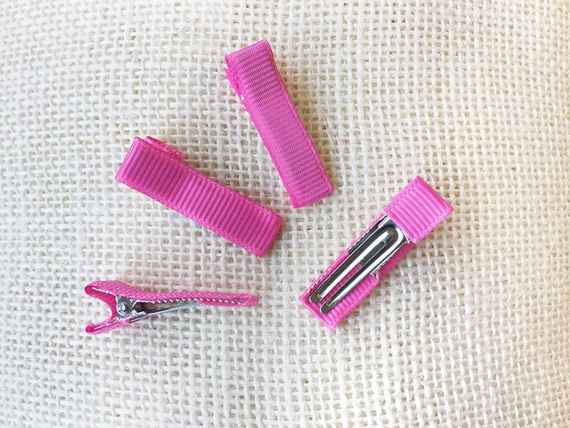 Заколка-основа(металл-ткань)цв. тем.розовый 35мм